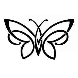 Butterfly Decal Sticker [009]